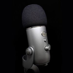 Blue Yeti USB Microphone (With foam cover and pop filter)