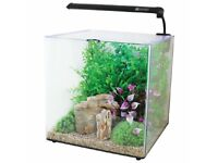 BNIB AQUA ONE AQUA ASPIRE 55L BLACK GLASS AQUARIUM LED LIGHTING FISH TANK RRP£75
