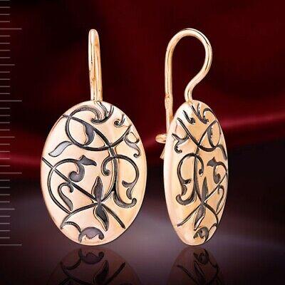 Rotgold Ohrringe Russisches Rose Gold 585 Goldohrringe Münze Hänger style Neu