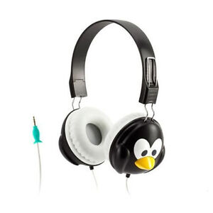 GRIFFIN KAZOO MYPHONES PENGUIN OVER EAR HEADPHONES BLACK WHITE GC35863