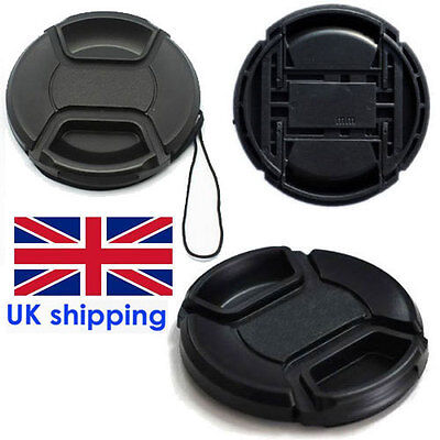New UK 67mm Center Pinch Front Lens Cap Cover For NIKON Canon SLR Camera