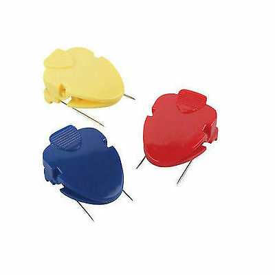12 Lot Cube Clips For Cubicle Fabriccorkboards 6-count Asst. Colors 710823ql