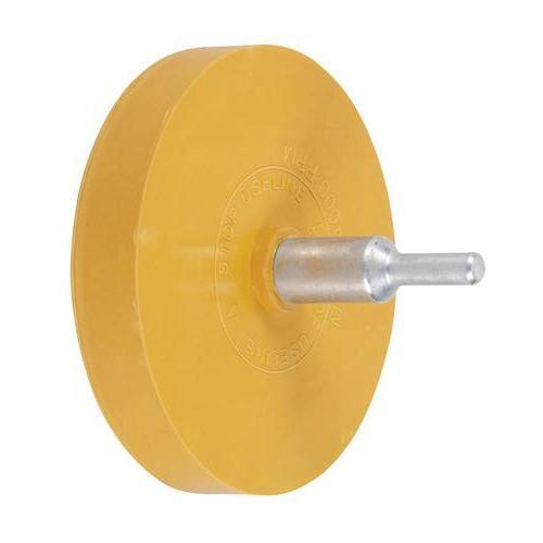 Rubber caramel Eraser Wheel & Drill Spindle Adaptor Removes pinstriping stickers