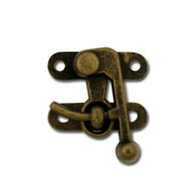 Swing Clasp - Antique Brass Finish - Tandy Leather #1297-01 (Discontinued) 01 Antique Brass Finish