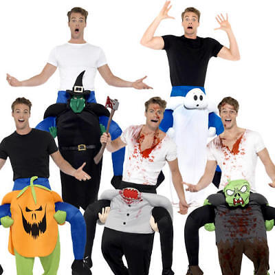 Piggyback Halloween Adults Fancy Dress Scary Ride On Novelty Mens Ladies Costume ()