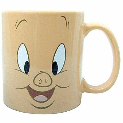 Porky Pig Face Ceramic Stoneware Mug, 14 oz - Looney Tunes -  Westland Gifts