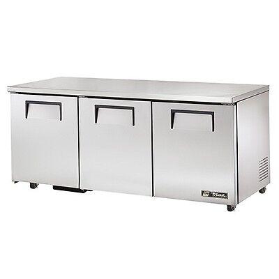 True Deep Worktop Solid 3 Door Refrigerator