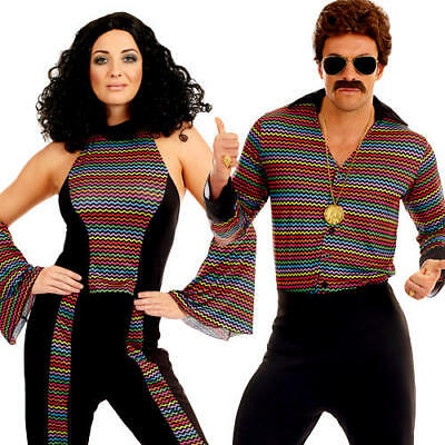 Disco Fever Adults Fancy Dress 1970s 70s Groovy Funky Retro Dance Costumes (70's Disco Fever Kostüme)