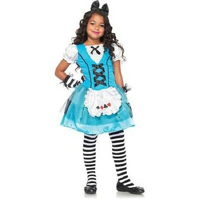 girls med 8-10 ALICE IN WONDERLAND w/ playing cards apron Halloween Costume  - Alice In Wonderland Play Costumes