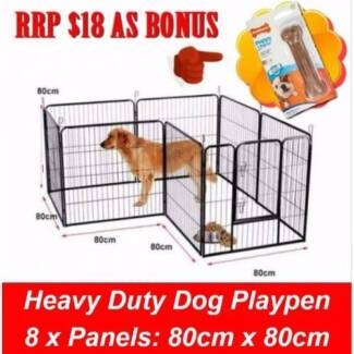 8 Panel Pet Playpen Dog Cage Puppy Exercise Crate Enclosure Rabb