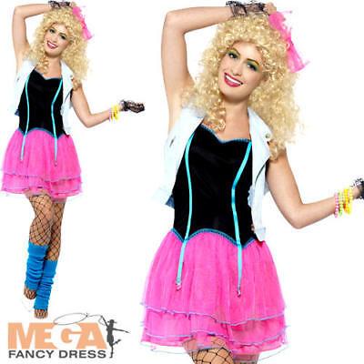 80's Wild Child Ladies Fancy Dress Madonna Celebrity 1980s Womens Adults - Wild Child Adult Kostüm