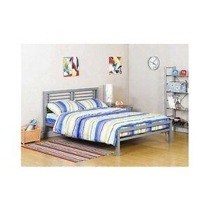 full size metal bed frame platform kids ebay. Black Bedroom Furniture Sets. Home Design Ideas