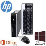 HP Elite UltraSlim Desktop PC (Intel Core i5, 4GB, 500GB, DVD, WiFi, Win 10 Pro)