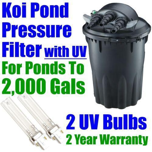 Plastic koi pond ebay for Koi pond filter kits
