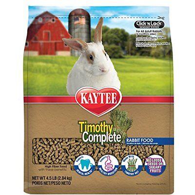 Kaytee Timothy Hay Complete Rabbit Food 4.5-lb bag, used for sale  USA