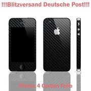 iPhone 4 Schutzfolie Schwarz