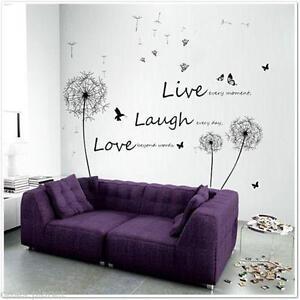 3D Flower Decal Vinyl Decor Art Removable Mural Family Living Room Wall  Sticker