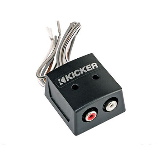 KICKER 46KISLOC2 Speaker Wire-to-RCA Line-Out Converter w/ LOC+12v Turn on Lead