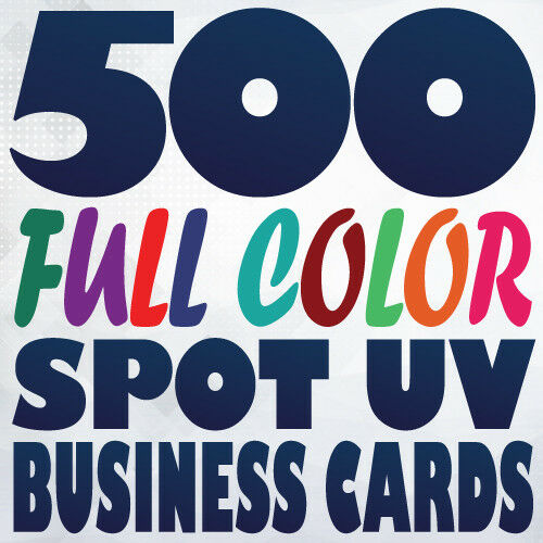 500 Full Color 16pt Spot Uv Business Card Printing Gloss And Matte On Same Side
