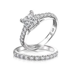 diamond engagement ring wedding band set - Ebay Wedding Ring Sets