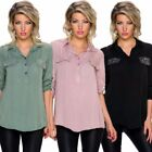 Sequin Collared Tops & Blouses for Women