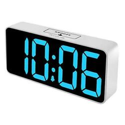 DreamSky 8.9 Inches Large Digital Alarm Clock with USB Charging Port, Fully