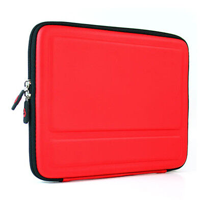 "Red Cube Shell Semi-Hard Tablet Stand Case Cover Sleeve Bag for 9.7"" Apple iPad"