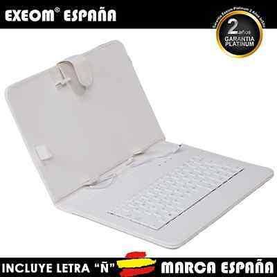 Funda con Teclado en Español para Tablet Pc 10