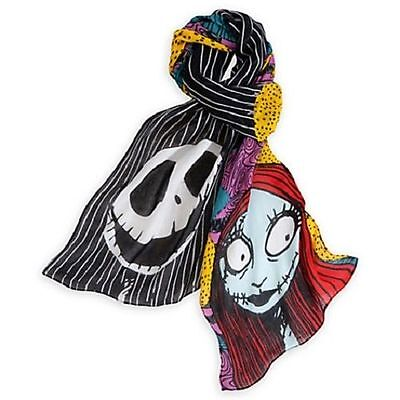NEW Disney Parks Sally And Jack Skellington Nightmare Before Christmas Scarf