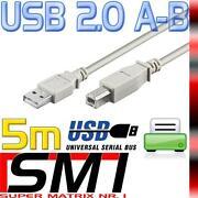 USB Druckerkabel 5M