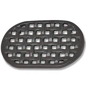 Cast Iron Black Oval Lattice Trivet for Wood Stove Steamers