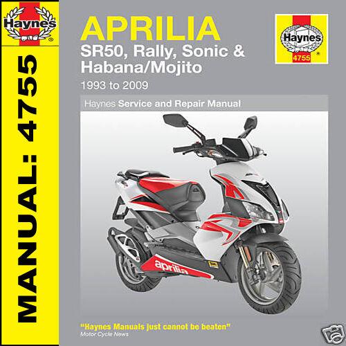 Aprilia Scooter SR50 Rally Sonic Habana Mojito 1993-2009 Haynes Manual 4755 NEW