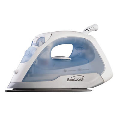 New Brentwood Appliances Steam Dry Spray Clothes Iron White