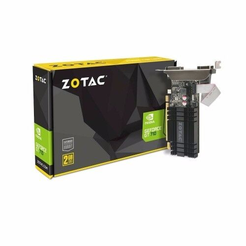 ZOTAC GEFORCE GT 710 NVIDIA 2GB VIDEO GRAPHICS CARD NEW BOXED