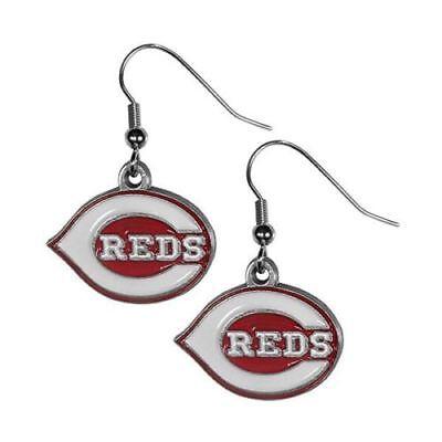 Cincinnati Reds Dangle Earrings (Zinc) MLB Licensed Baseball Jewelry