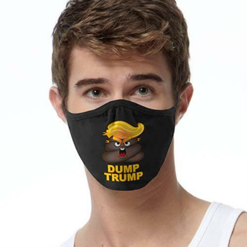 Dump Trump Emoji FACE MASK Reusable Washable Unisex Face Cover Cloth USA Seller