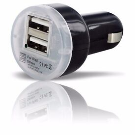 USB Car charger adapter 1A 2.1A dual port FAST CHARGE for iPhone and Samsung for cigarette lighter