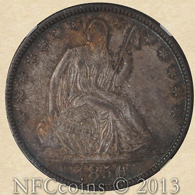 1850-O SEATED LIBERTY 50C MS65 NGC EX:  EHR GREEN-NEWMAN COLLECTION
