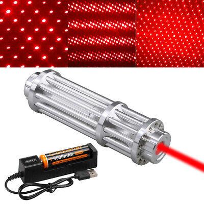 650nm Red Laser Pointer Pen Beam Light Focus18650 Battery Charger