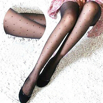 Women Fashion Sexy Sheer Small Dot Pattern Stretchy Pantyhose Tights Gift Worthy (Polka Dot Tights)