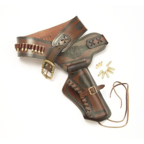 Old West Leather Revolver Holster Collectible