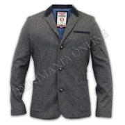 Mens Grey Tweed Blazer