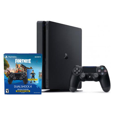 PlayStation 4 Slim 1TB + Extra PS4 Wireless Controller - Fortnite Content Bundle