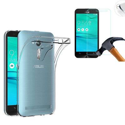 Pour Asus Zenfone GO ZB500KL Coque Arrière en Silicone transparent + 1...