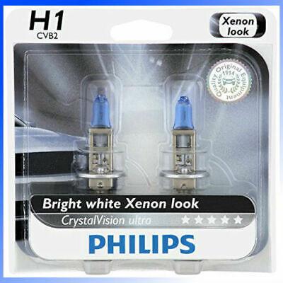 Headlight Bulb-CrystalVision Ultra-Twin Blister Pack Philips 12258CVB2