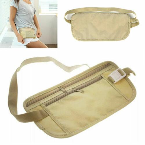 Waist Belt Bag Travel Pouch For Hidden ID Passport Security Money Compact Safety Money Belts & Wallets