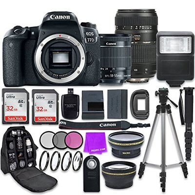 Canon EOS 77D 24.2 MP Camera + Canon EF-S 18-55mm IS STM Lens + Tamron 70-300mm