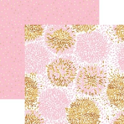 (Scrapbooking Crafts 12X12 DS Paper Oh Baby Girl Adore Pink Flower Bursts Dots)
