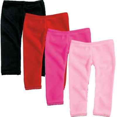 Hot Pink Leggings with Lace Trim Fits 18 inch American Girl Dolls