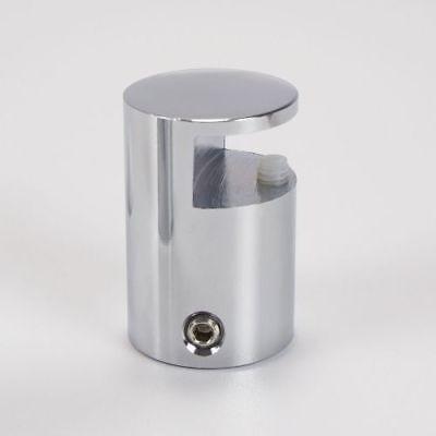 Glas Verchromt, Poliert (Klemmbefestigung 20mm Messing (poliert, verchromt) 2-8mm, Halter, Schilder, Glas)